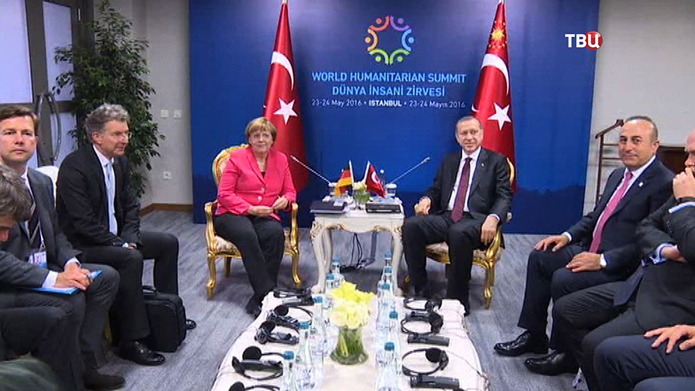 Канцлер Германии Ангела Меркель и президент Турции Реджеп Тайип Эрдоган