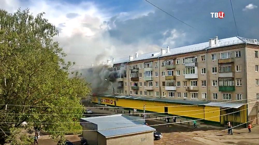Пожар в доме города Струнино