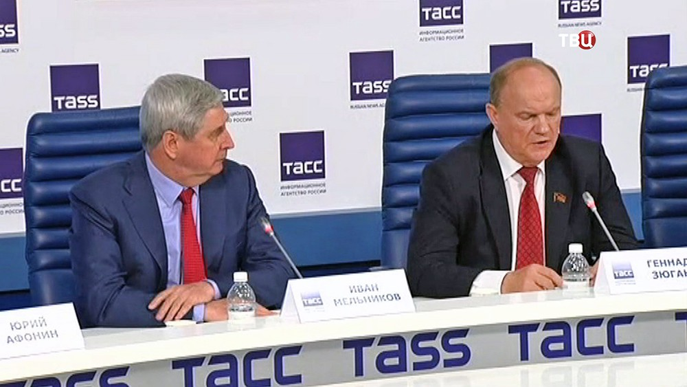 Иван Мельников и Геннадий Зюганов