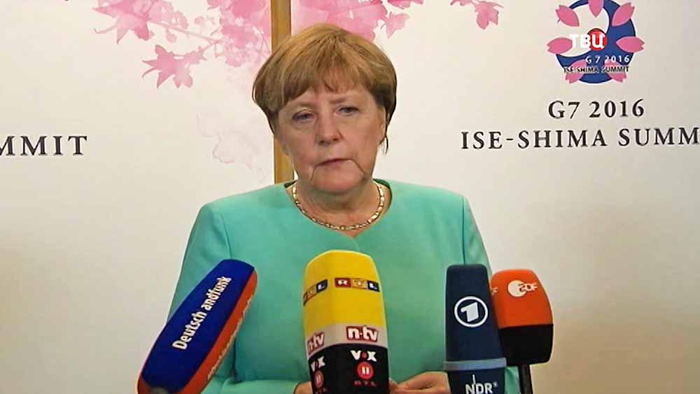 Канцлер Германии Ангела Меркель на саммите G7