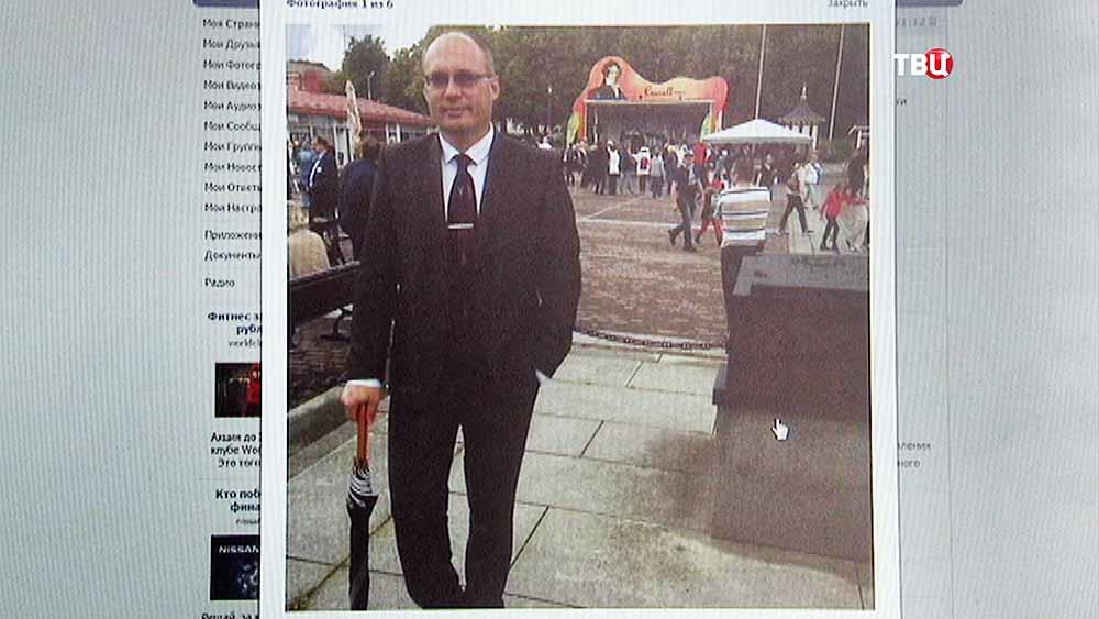 Интернет-страница вице-мэр Великого Новгорода Вадима Фадеева