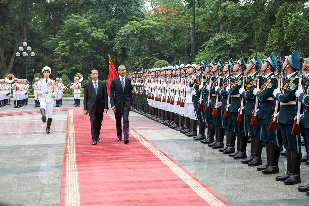 Президент США Барак Обама и президент республики Вьетнам Тран Дай Куанг