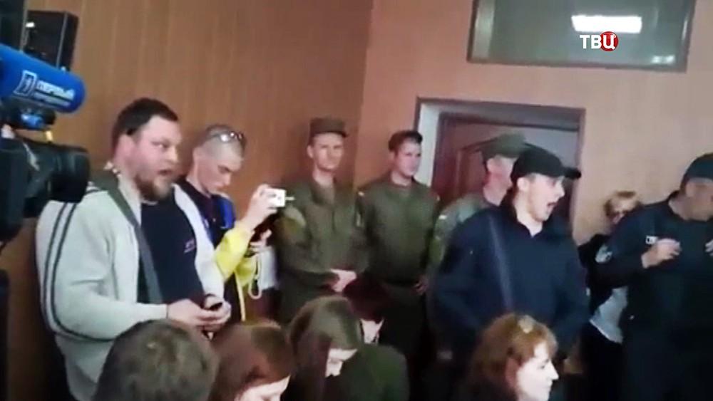 Украинские радикалы в суде Одессы