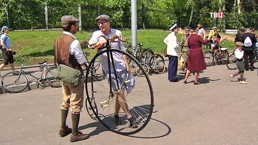 Пробег ретро-велосипедов