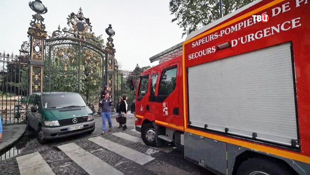 Пожарные Германии на месте происшествия
