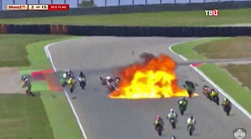 Взрыв на чемпионате по мотогонкам