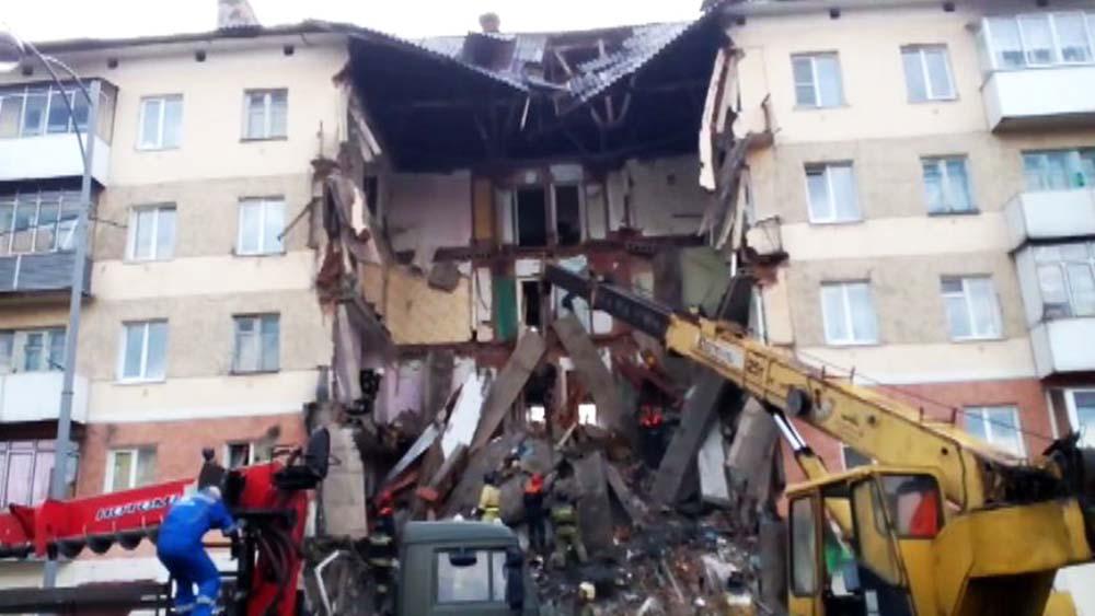 Обрушение жилого дома в Междуреченске
