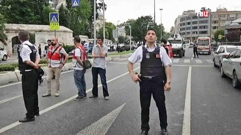 Оцепление на месте происшествия в Турции