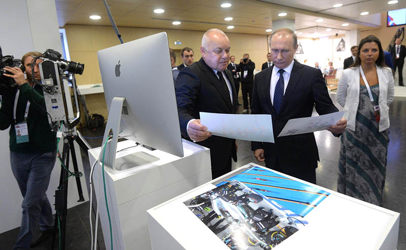 Владимир Путин посетил штаб-квартиру международного информационного агентства «Россия сегодня»
