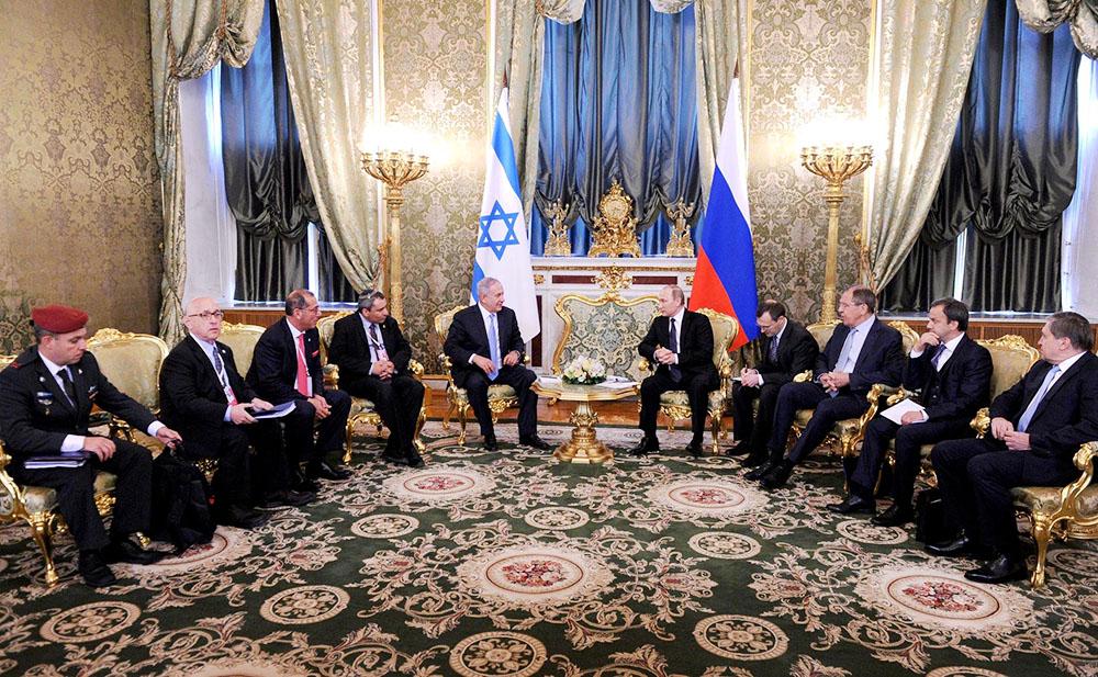Президент России Владимир Путин и премьер-министром Израиля Биньямин Нетаньяху