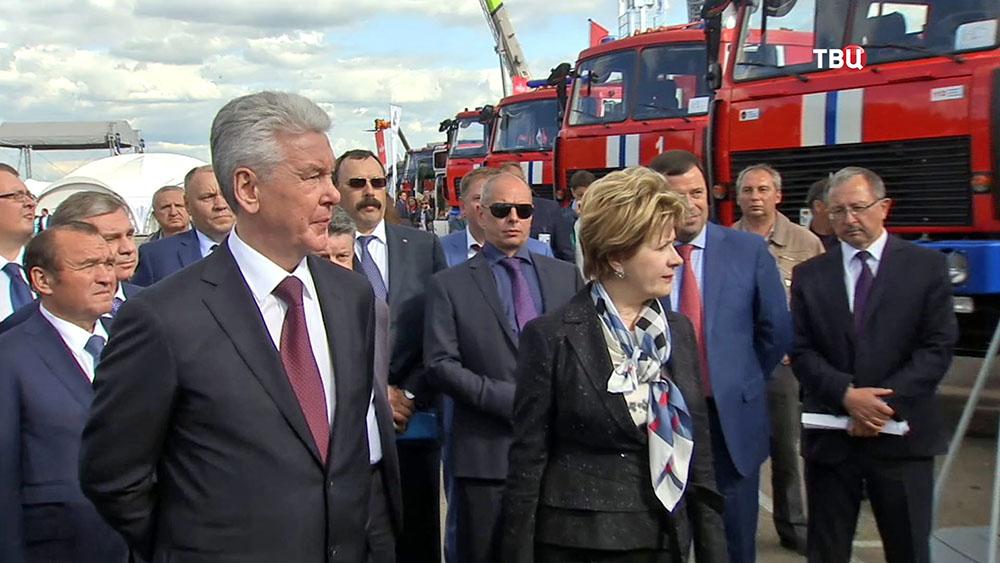 Мэр Москвы Сергей Собянин во время рабочей поездки в Минск
