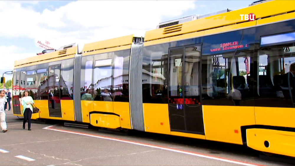 Новый трамвай в Минске