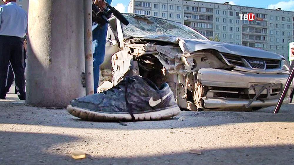 Последствия ДТП в Новосибирске