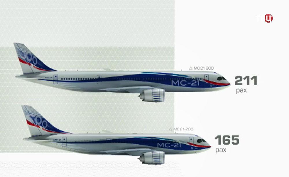 Модификации самолета МС-21-300