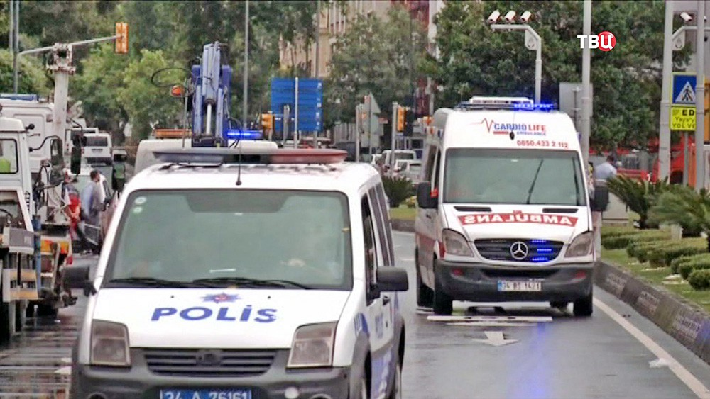 Экстренные службы Турции на месте происшествия