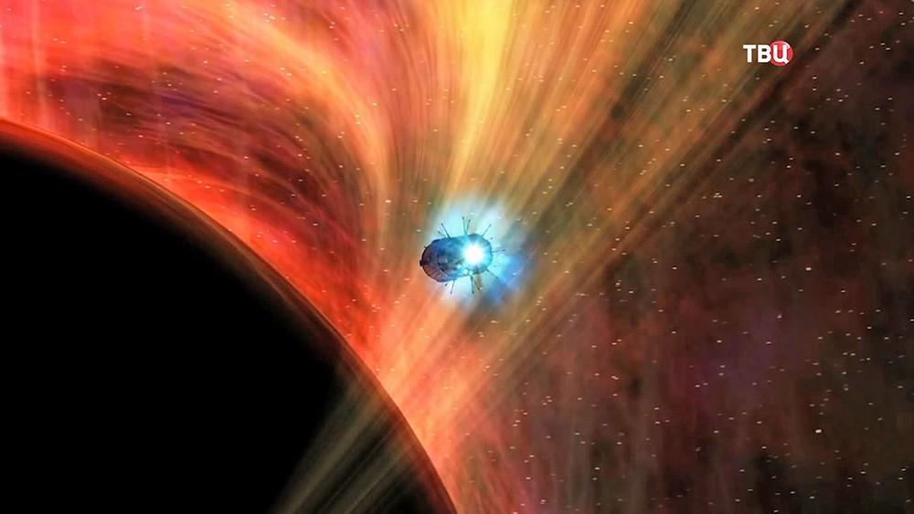"""Модель полета космического зонда к """"черной дыре"""""""