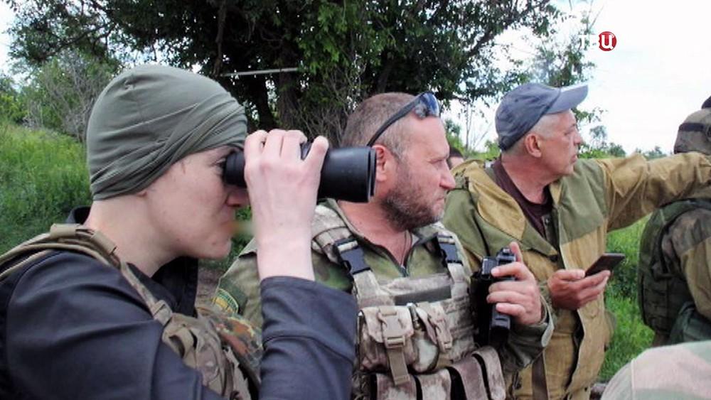 Надежда Савченко и Дмитрий Ярош в Донбассе