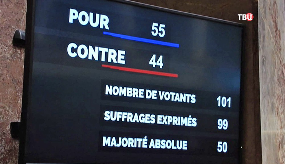 Голосование за отмену антироссийских санкций в парламенте Франции