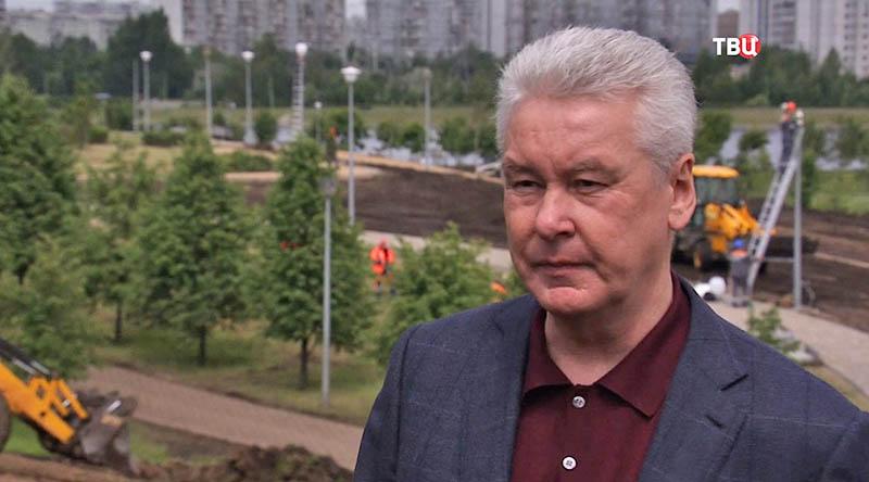 Сергей Собянин осматривает Братеевский каскадный парк