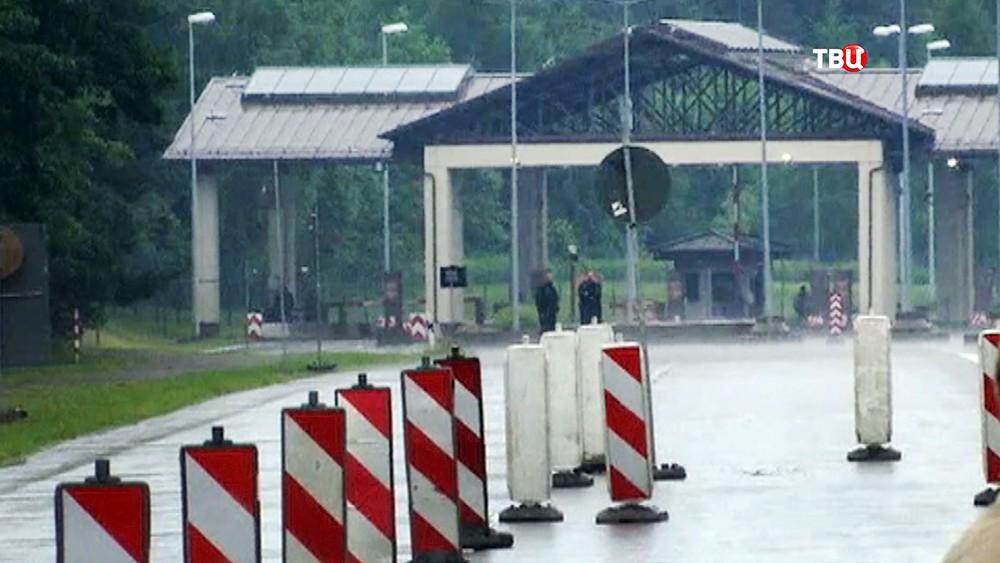 КПП военной базы США в Германии