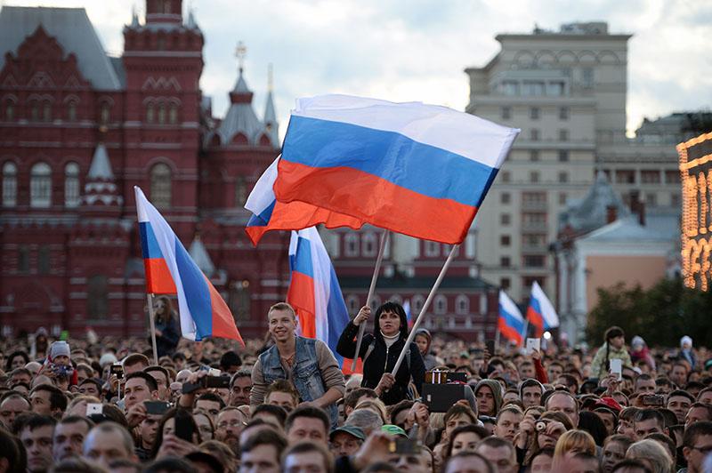 Жители Москвы на праздничном концерте в честь Дня России