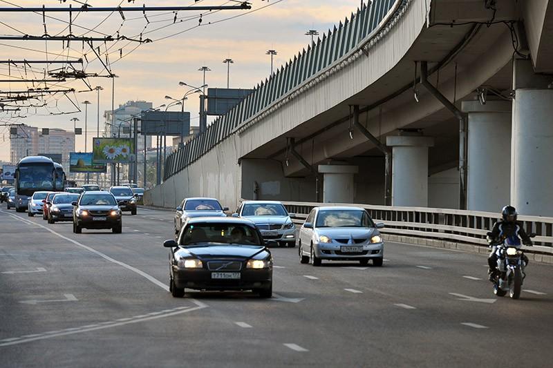 Транспортная развязка в районе пересечения Третьего транспортного кольца с Ленинградским проспектом в Москве