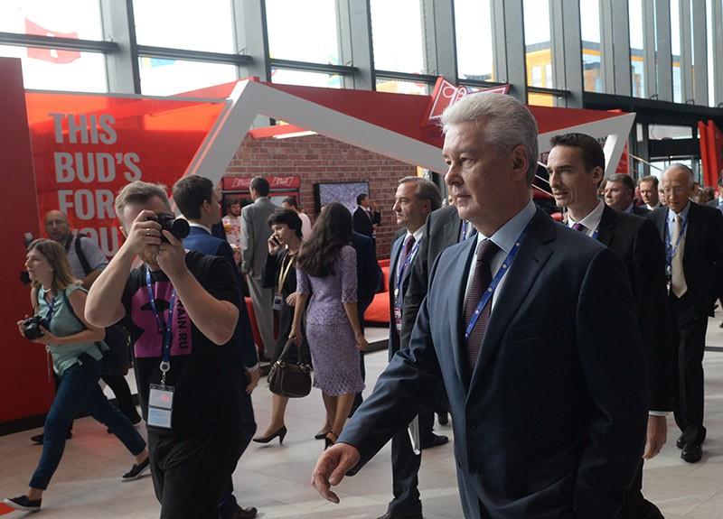 Мэр Москвы Сергей Собянин на XX Петербургском международном экономическом форуме