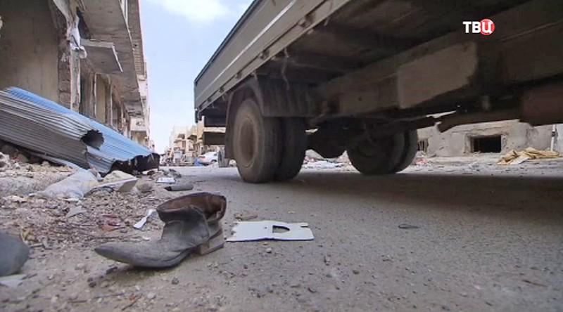 Последствия стрельбы в Сирии