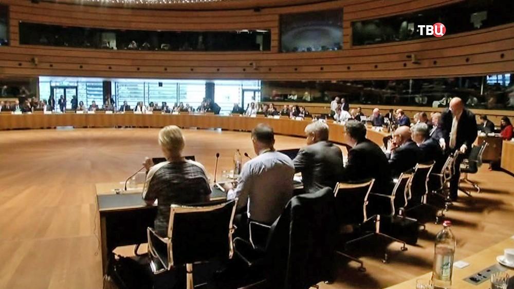 Заседание в штаб-квартира ЕС в Брюсселе