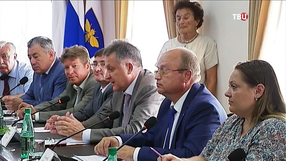 Переговоры с делегацией из США в Крыму