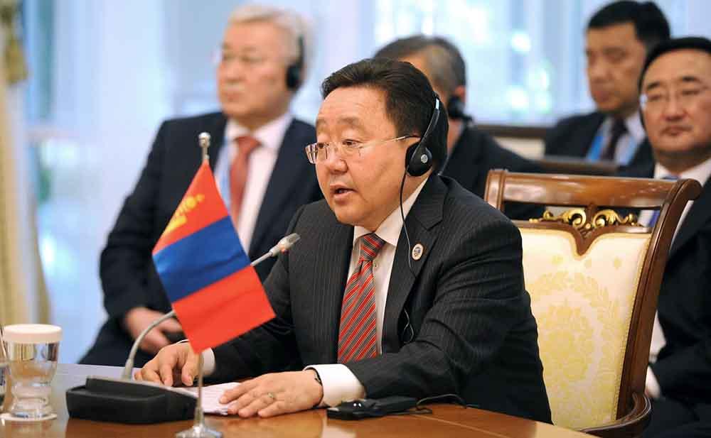 Президент Монголии Цахиагийн Элбэгдорж