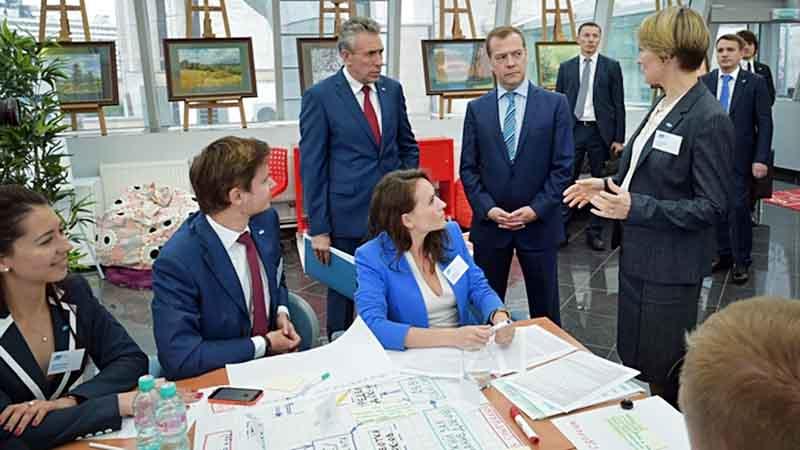 Дмитрий Медведев на заседании Наблюдательного совета Внешэкономбанка