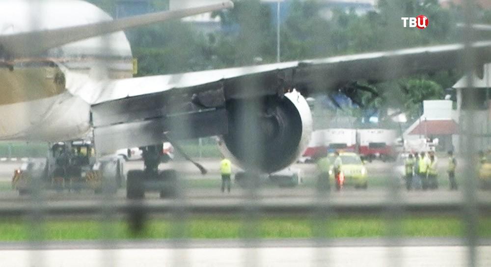 Boeing 777 авиакомпании Singapore Airlines в аэропорту Сингапура