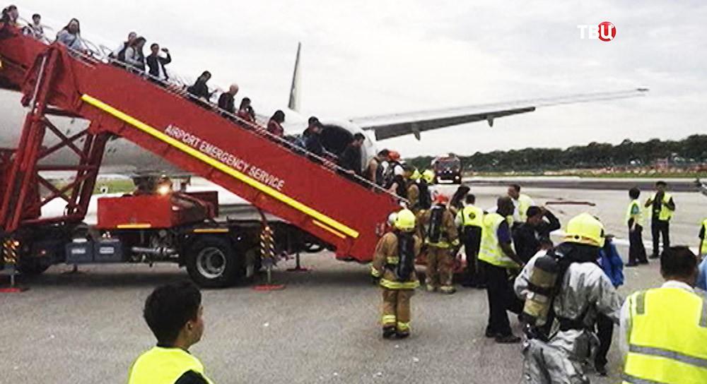 Эвакуация пассажиров