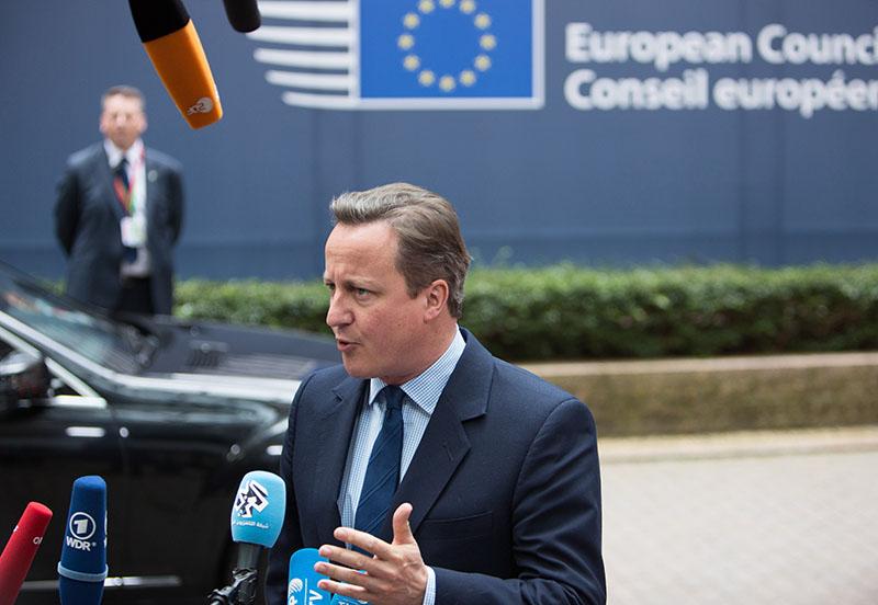 Премьер-министр Великобритании Дэвид Кэмерон во время саммита ЕС в Брюсселе