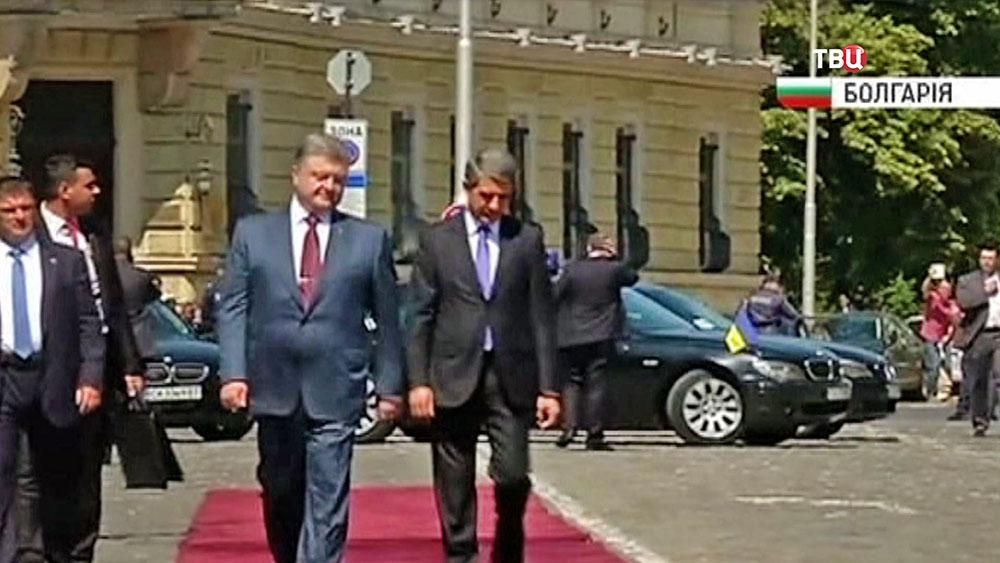 Президент Украины Петр Порошенко с визитом в Болгарии