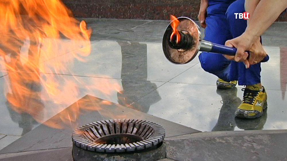 Вечный огонь  на Поклонной горе