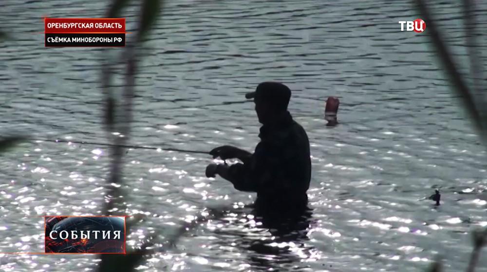 Соревнования по рыбной ловле среди военных разведчиков
