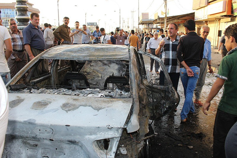 На месте теракта в Багдаде, Ирак