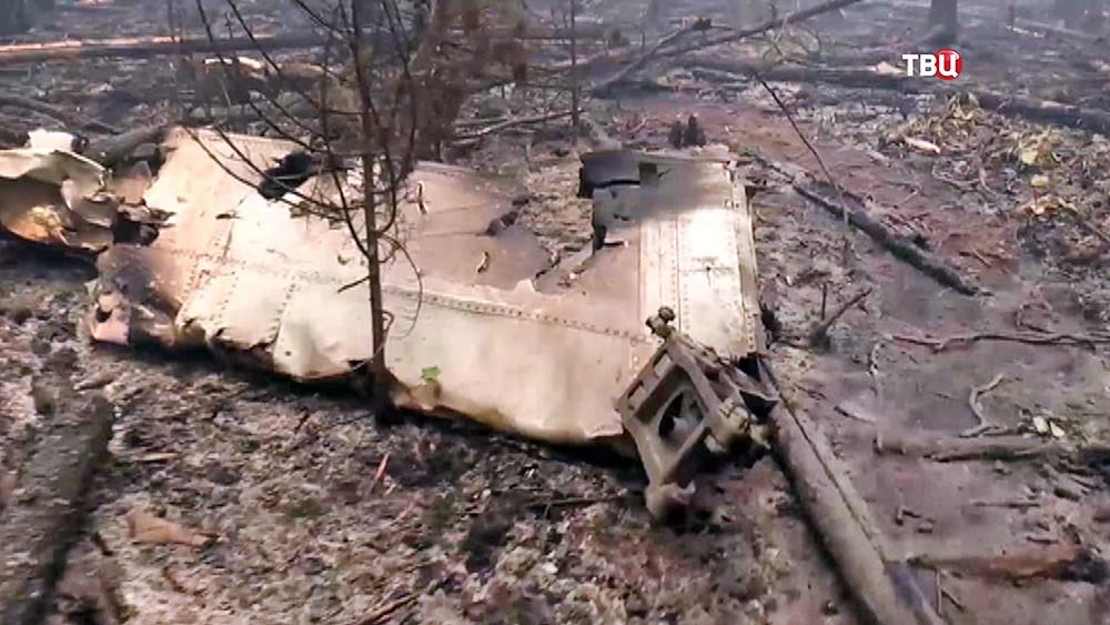 Место крушения спецборта МЧС Ил-76 в Иркутской области