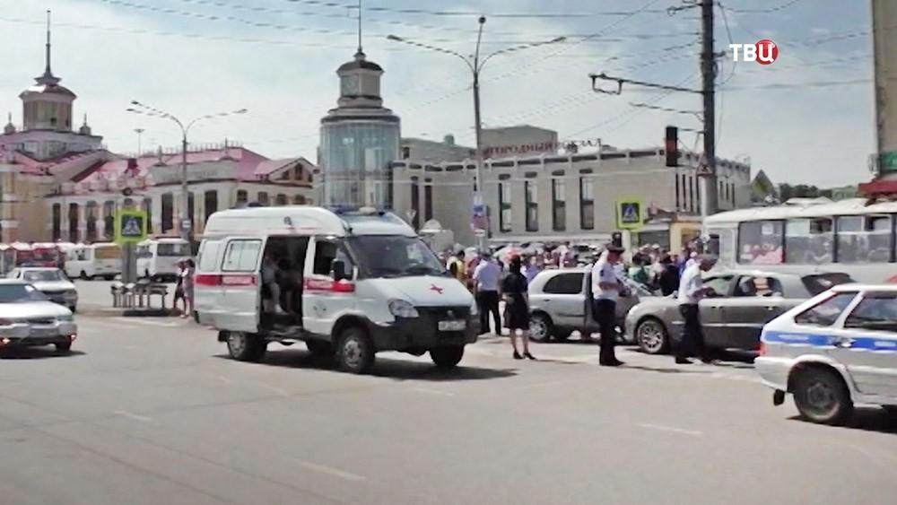 Экстренные службы Новокузнецка на месте ДТП