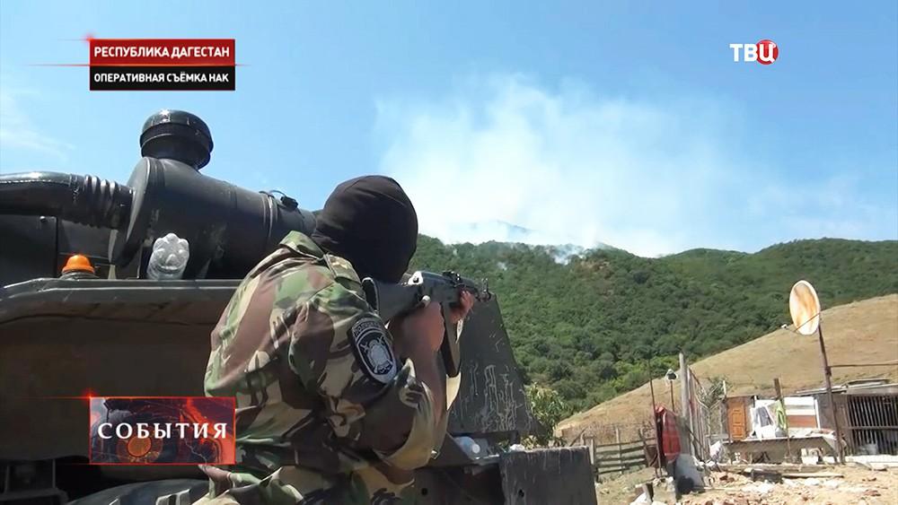Во время спецоперации в Дагестане