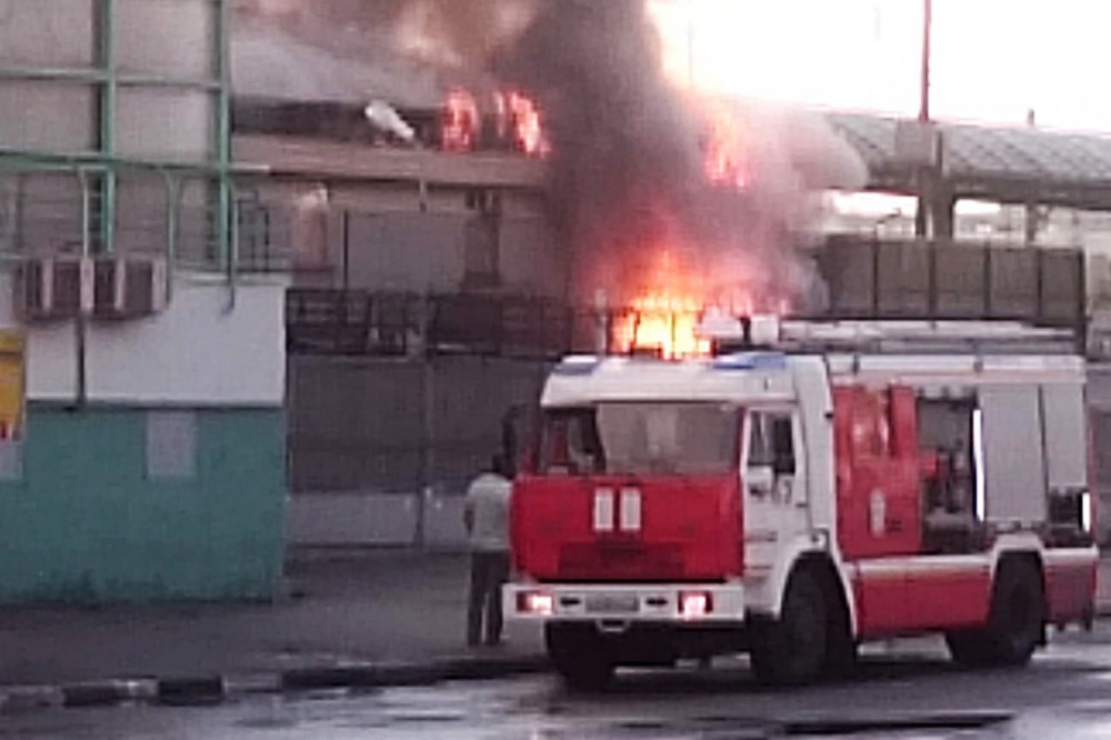 """Пожар на станции метро """"Выхино"""""""