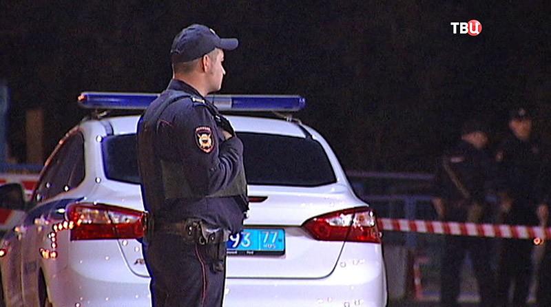 Полиция на месте происшествия в Москве