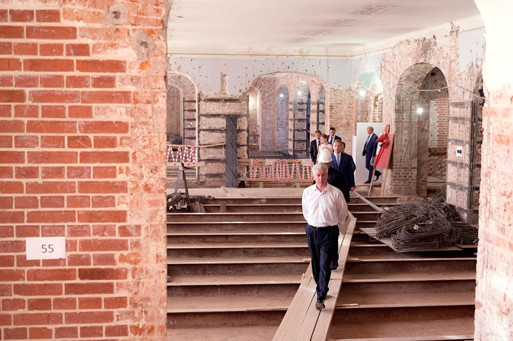 Сергей Собянин осмотрел ход реконструкции Политехнического музея
