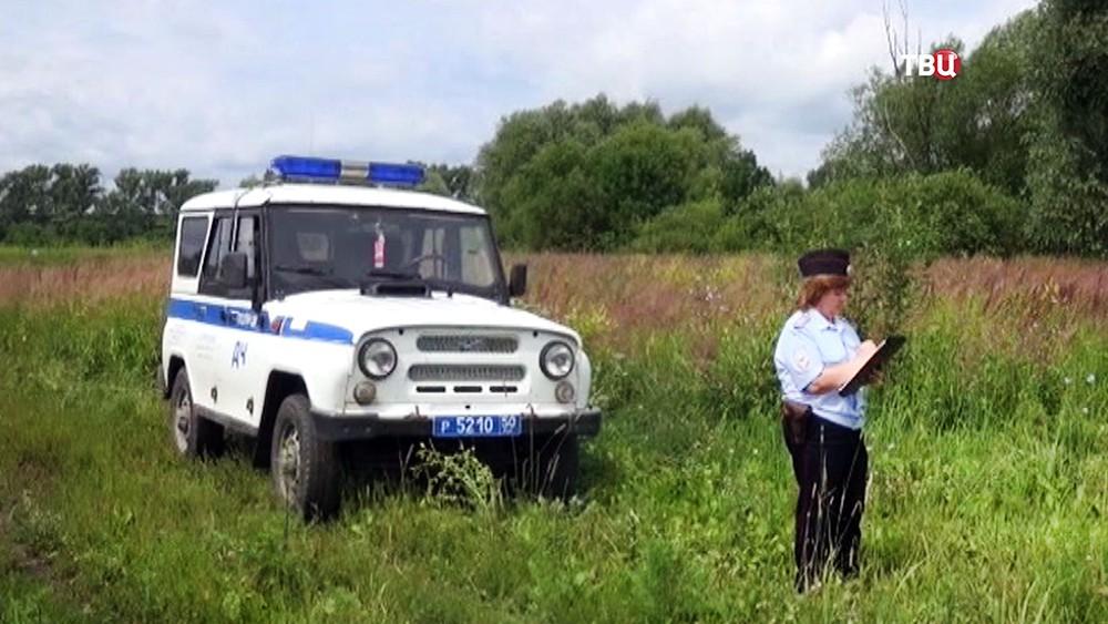 Подмосковные полицейские на мете происшествия