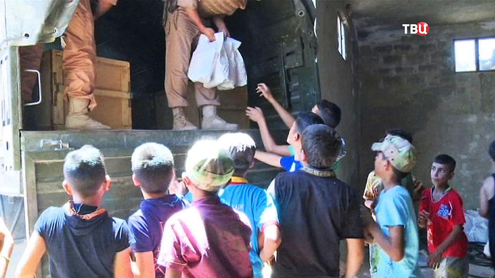 Гуманитарная помощь детям Сирии