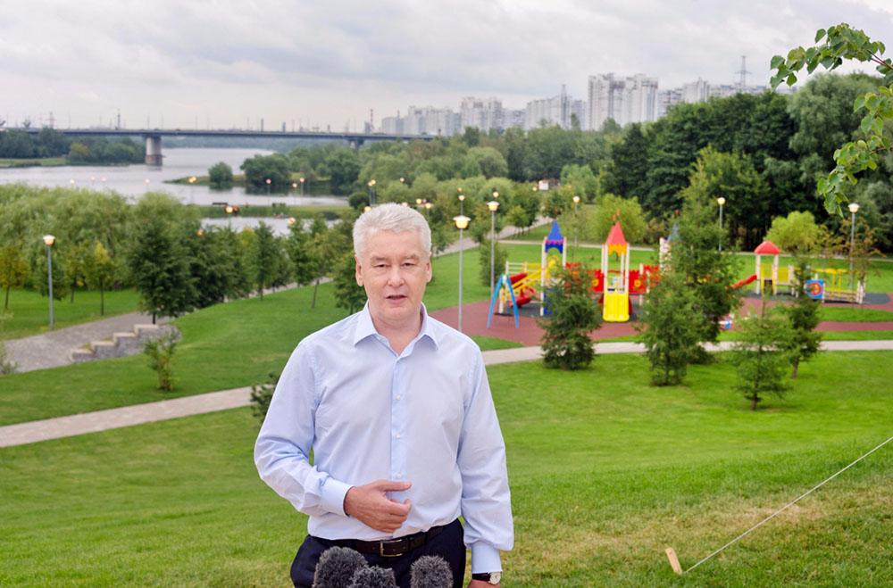 Сергей Собянин открывает благоустроенный парк
