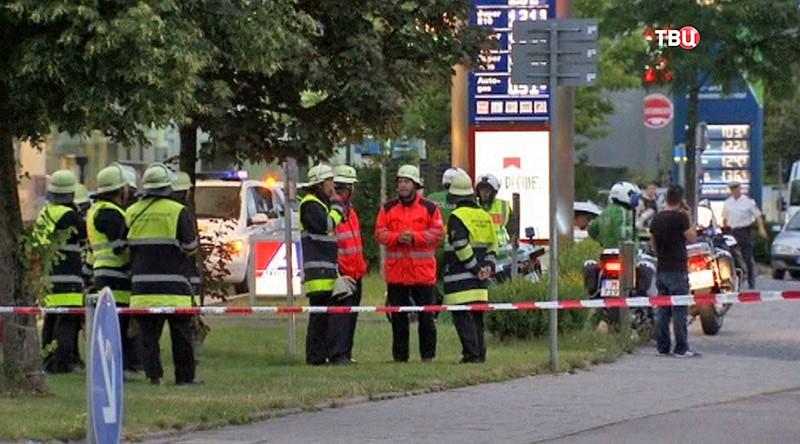 Полиция на месте стрельбы в Мюнхене