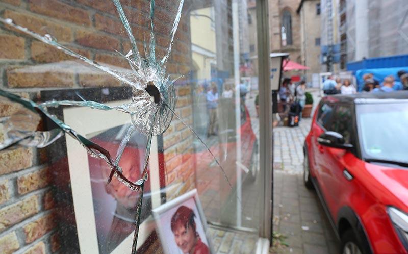 На месте теракта в Ансбахе, Германия